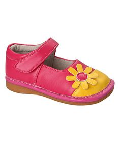 Toddler Shoes Up to Toddler Size 7 Mary Jane Pink Chevron Squeaky Shoes