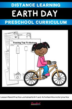 This Earth Day Preschool packet is a great way for your preschool or pre-k kids to work on basic literacy and math and fine motor skills. These no-prep printables are great for distance learning or in class centers and stations. Preschool Curriculum, Preschool Printables, Preschool Worksheets, Preschool Learning, Teaching, Everything Preschool, Concepts Of Print, Toddler Age, Literacy Skills