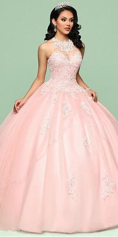 Fashionable Tulle Jewel Neckline Ball Gown Quinceanera Dress With Beaded Lace Ap. - - Fashionable Tulle Jewel Neckline Ball Gown Quinceanera Dress With Beaded Lace Appliques & Sequins Source by Sweet 15 Dresses, Elegant Dresses, Pretty Dresses, Beautiful Dresses, Sexy Dresses, Summer Dresses, Formal Dresses, Evening Dresses, Awesome Dresses
