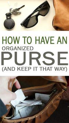 organization ideas, organization hacks, clean your purse, organize your purse, popular organization ideas