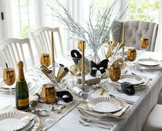 Masquerade-Themed Dinner Party                       Welcome in the new year with a classy dinner party—masked guests and a sparkling table...