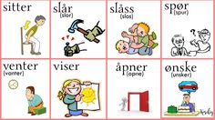 Norsk Verbs 4     Verbos noruegos 4 Norsk grammatikk  norwegian grammar Gramatica noruega Norwegian Words, Norway Language, Chinese English, Learning, Girls, God Is Faithful, Vocabulary, Languages, Words