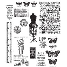 Stampers Anonymous Tim Holtz Cling Rubber Stamp Set Seasonal Reflections