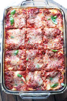 Ina Garten's Turkey Lasagna made with Italian sausage and 4 different cheeses! | littlebroken.com @littlebroken