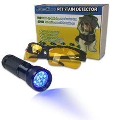 Urine Detector LED Blacklight Kit - Find Dry Smelly Cat and Dog Urine Stains Around the House So That You Can Remove The Odor - Safety Glasses, Batteries, and User Guide Included * Find out more about the great product at the image link.