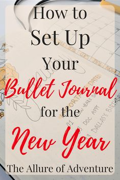 Looking for ideas on how to set up your bullet journal for the new year? Here's my setup for 2018, so sit back, have a glass of wine, and enjoy these bullet journal spreads! Bullet Journal | BUJO | Bullet Journal Tips | Planner | New Year Ideas | Bullet Journal Page Ideas