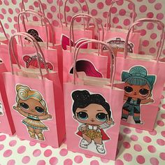 Planning a LOL SURPRISE themed party and want cute favor bags? These adorable favor bags are perfect for your party! Fill them with toys, favors, and candy for guests to take home! Your guests will absolutely love these!! Package includes: -10 LOL SURPRISE DOLL Favor Bags -Color: Birthday Bag, Fairy Birthday Party, Birthday Favors, 6th Birthday Parties, 10th Birthday, Surprise Birthday, Birthday Ideas, Doll Party, Lol Dolls