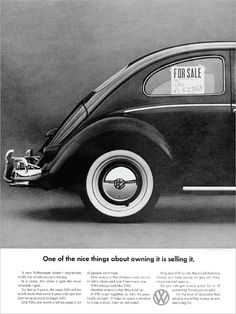 Volkswagen ad - It's Ugly, But It Gets You There | Volkswagen | Pinterest | Volkswagen, Vw and ...
