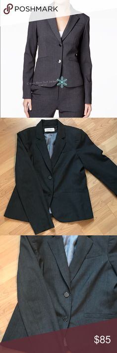 ❄️‼️FIRST REASONABLE OFFER TAKES IT‼️❄️ NWOT Calvin Klein Suit Jacket! Size 10! Never Worn! Grey Color! Calvin Klein Jackets & Coats Blazers