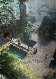 New fantasy landscape peace ideas Dark Fantasy, Fantasy Concept Art, Fantasy City, Fantasy Places, Fantasy Kunst, Medieval Fantasy, Sci Fi Fantasy, Fantasy Artwork, Fantasy World