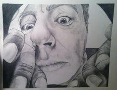 Curious Man30x40 - GraphiteVCUarts Drawing Studio
