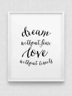 dream print // love print // inspirational print by spellandtell