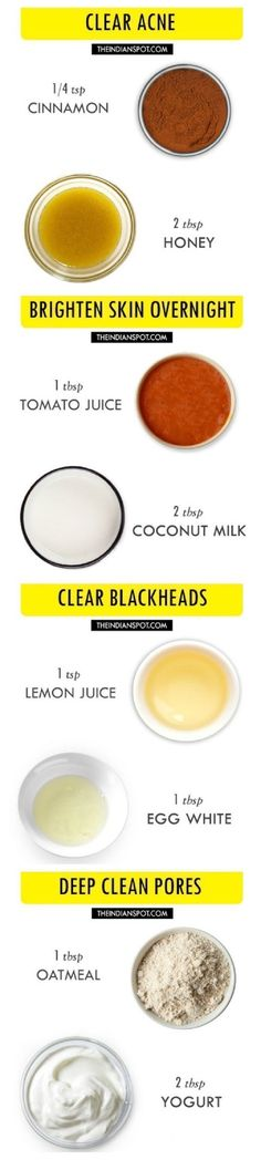 4 Simple 2 Ingredients All Natural Homemade Face Masks - 16 Recommended Skin Care Routine Tips and DIYs for A Healthy Glow This Summer #homemadefacemasksglow #skincareroutine #healthyskincare