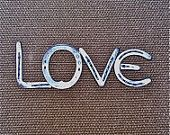 LOVE sign, custom word Horseshoe, wedding shower birthday bridal gift,  Made to ORDER
