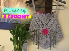 Blusa/Top tejido a Crochet/Ganchillo - YouTube