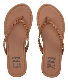 Look at this #zulilyfind! Desert Brown Braidy Flip-Flop by Billabong #zulilyfinds