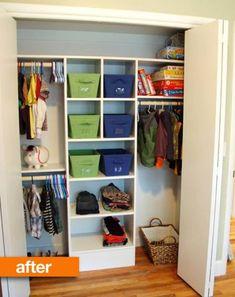 Diy Custom Closet, Custom Closets, Boys Closet, Closet Bedroom, Entryway Closet, Kids Bedroom, Closet Redo, Closet Space, Playroom Closet