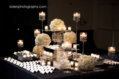 wedding guest book escort card table inspiration missouri city wedding decoration ideas black and red Reception Decorations, Event Decor, Wedding Centerpieces, Table Decorations, Wedding Receptions, Wedding Tables, Reception Card, Black And White Wedding Theme, White Wedding Flowers