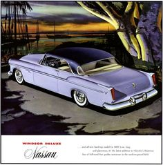 1955 Chrysler Nassau Coupe Motorcycle Art, Bike Art, Classic Auto, Classic Cars, Desoto Cars, Car Paint Colors, Chrysler Windsor, Chrysler Valiant, Chrysler Cars