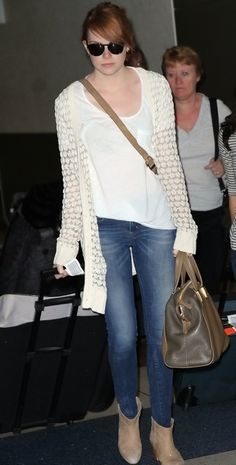 Emma Stone's airport style