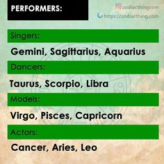 I'm a Gemini. But I like to act and model lmao