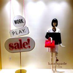 """KATE SPADE, New York, """"WORK,PLAY,SALE"""", pinned by Ton van der Veer"""