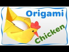 Origami Easter Chicken Container for egg. Easy instructions for beginners. - YouTube