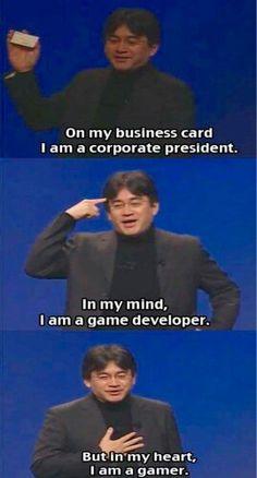 """Murió el señor Satoru Iwata, presidente nada más y nada menos que de Nintendo. Te dejamos una de sus frases más célebres, traducida dice: """"En mi tarjeta, soy presidente de empresa. En mi mente soy programador. En mi corazón soy jugador"""" ¿Cuál es tu personaje favorito de #Nintendo?"""