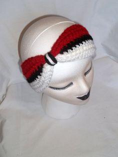 Items similar to Pokebow Ear Warmer Pokeball Turban Headband Knotted Headwrap Handmade Crochet Knit Original Design on Etsy Crochet Bows, Crochet Headband Pattern, Crochet Geek, Crochet Beanie, Knit Or Crochet, Cute Crochet, Crochet Crafts, Crochet Projects, Crochet Headbands