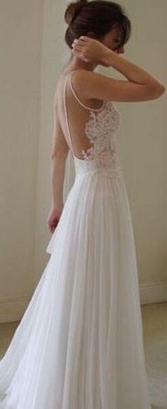 HandMade Floor Length Backless Lace Wedding Dresses,Prom Dresses,Prom Gowns,Lace Wedding Dresses, Backless Wedding Dresses,Spaghetti straps Prom Dresses
