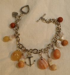 Stainless Steel Chain Link Charm Bracelet by JACYouthfulFashions
