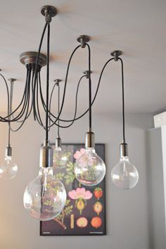Young House Love - One young family + one old house = love. - Edison light from Pottery Barn. Love!