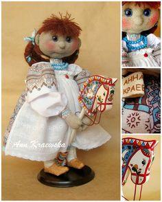 текстильная куколка-выкройка