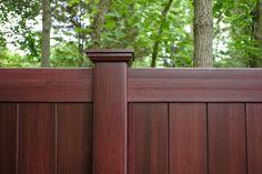 Fence - illusions mahogany vinyl privacy fence