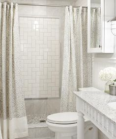 Sarah Richardson Design - Master Bathroom Like the center square in shower wall. Chambre Sarah Richardson, Sarah Richardson Bathroom, Bathroom Renos, Master Bathroom, White Bathroom, Bathroom Ideas, Bath Ideas, Downstairs Bathroom, Bathroom Remodeling