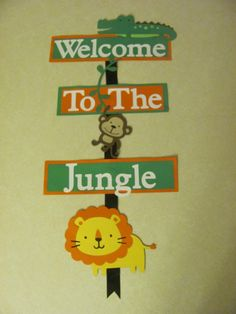 Welcome Jungle Birthday Party Sign Jungle by SimplyBlessedHome, $15.00
