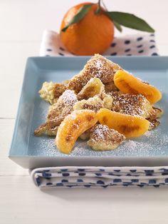 Couscous-Schmarrn mit Mandarinen | Die Eiweiße aus Milch, Ei und Weizen ergänzen sich bestens. Genau richtig für das Wachstum Ihres Kindes.
