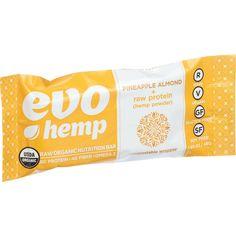 Evo Hemp Organic Hemp Bars Pineapple Almond Protein 1.69 Oz Bars Case Of 12