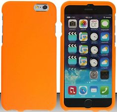"""myLife Neon Goldfish Orange {Slim Sleek and Modern} 2 Piece Snap-On Rubberized Protective Faceplate Case for the NEW iPhone 6 (6G) 6th Generation Phone by Apple, 4.7"""" Screen Version """"All Ports Accessible"""" myLife Brand Products http://www.amazon.com/dp/B00U1W3FPY/ref=cm_sw_r_pi_dp_sVxhvb0953SR4"""