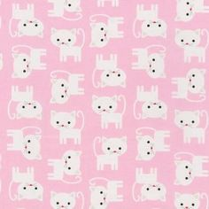 Cats on Pink from Urban Zoologie Collection by Ann Kelle for Robert Kaufman Fabrics 1 white cats on pink cotton fabric Super Cute Kittens, Cat Fabric, Fabric Board, Thing 1, Baby Kittens, Robert Kaufman, Kona Cotton, White Cats, Urban