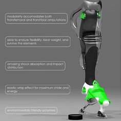 Powerplay Prosthetic Leg - Designed By Joshua Woods. Want to read more about this one!