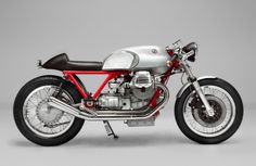 Side View of teffific Moto Guzzi Cafe Racers by Kaffe Maschine