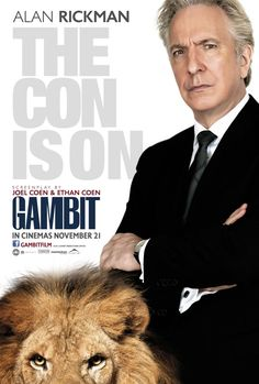 The two character posters for the Coen brothers scripted A Gambit hint at the mutual cons going on between Alan Rickman and Colin Firth. Description from pinterest.com. I searched for this on bing.com/images