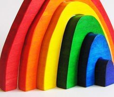 Wooden Toy Rainbow Stacker Imagination Kids by Imaginationkids, $25.00