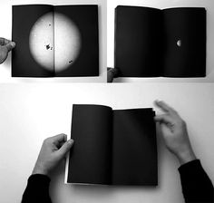 Astronomical is a scale model of our solar system in twelve 500 page volumes  printed-on-demand. On page 1 the Sun, on page 6,000 Pluto. The width of  each page equals one million kilometres. - by Mishka Henner//via olena