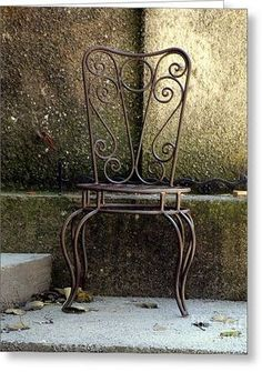 Metal Chair Greeting Card by Lainie Wrightson