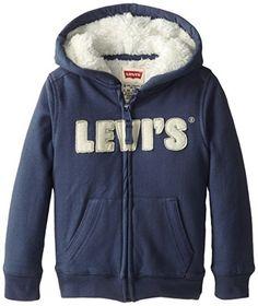 Levi's Little Boys' Styx Zip Hoodie, Vintage Blue, 6