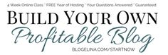 Sign Up for Blogelina's Build Your Own Profitable Blog Class for just $0.99!