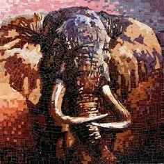 Mosaic Tile Elephant