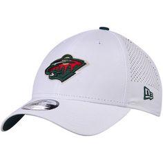 Men's New Era White Minnesota Wild Perforated Pivot 9FORTY Adjustable Hat